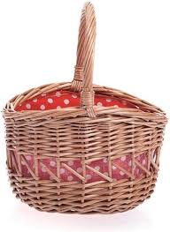 Egmont - Round Basket With Red And White Dots