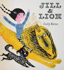 Jill and lion by Lesley Barnes Page