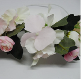 Spotted crow creations - Rose and Hydrangea flower garlands
