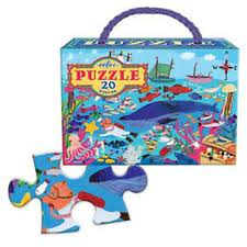 Eeboo - Sea life 20 piece puzzle