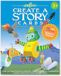 Eeboo- Create a story cards Robots mission