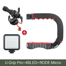 Load image into Gallery viewer, Triple Cold Shoe Mount Stabilizer Handle Grip Rig Photo Studio Set