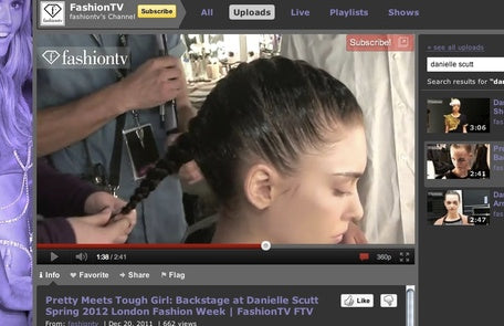 PRETTY MEETS TOUGH GIRL - BACKSTAGE AT DANIELLE SCUTT SPRING 2012