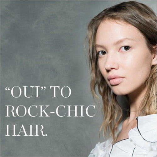 'OUI' TO THE ROCK-CHIC HAIR