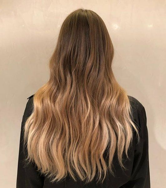 balayage back view