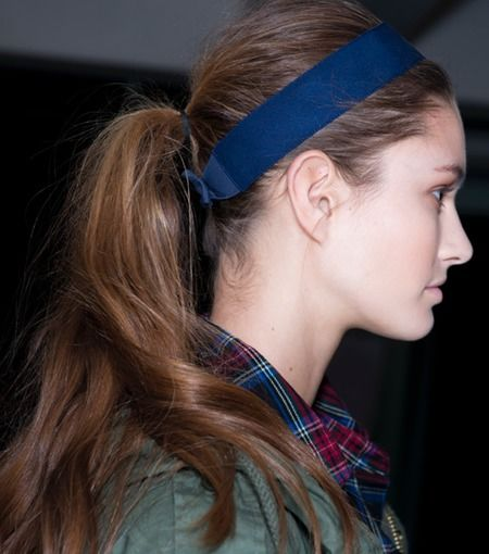 side view ponytail