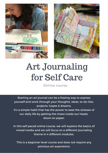 Art Journaling for Self Care - Online course