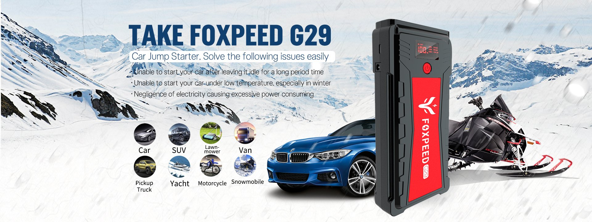 Foxpeed G29 Portable Car Jump Starter