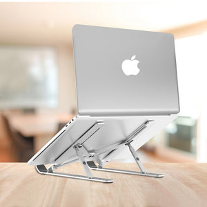 Foldable Aluminium Laptop Holder for MacBook Pro Notebook Stand - COOLCrown Store