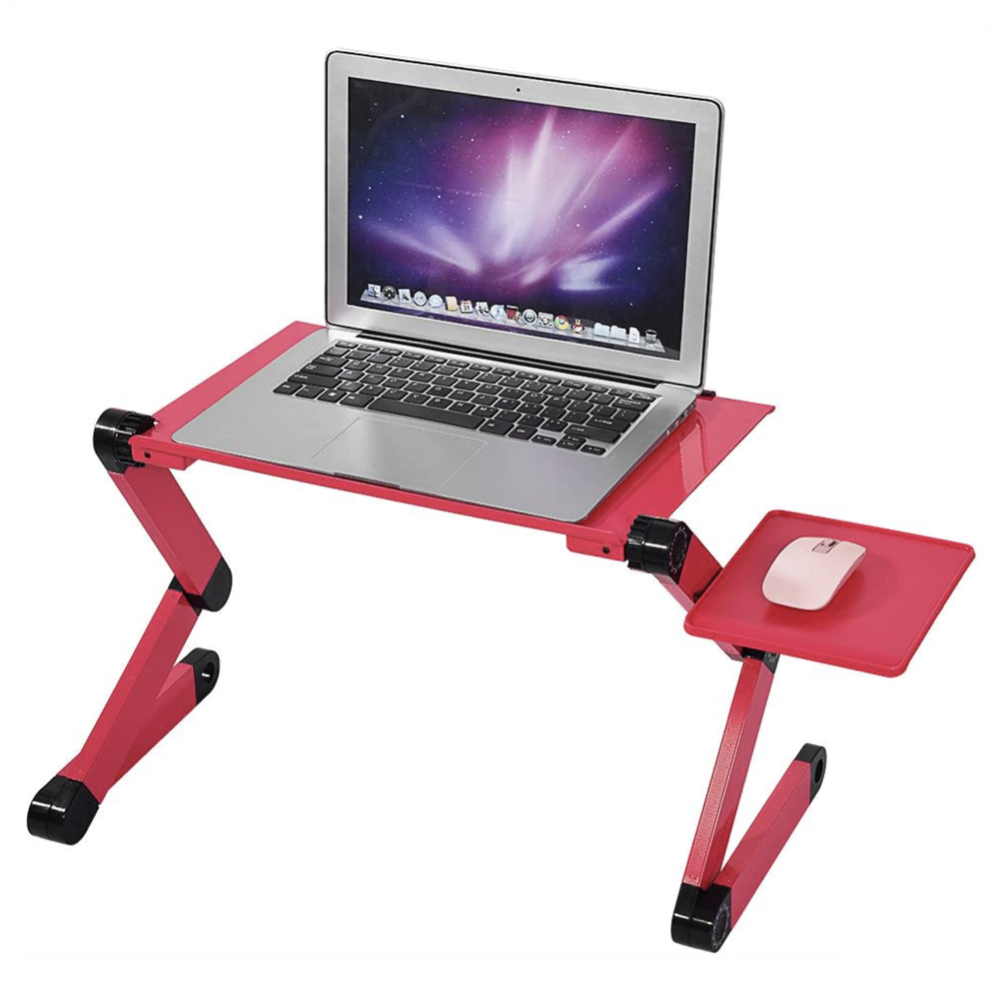 Adjustable Aluminum Laptop Desk Table Stand With Mouse Pad - COOLCrown Store