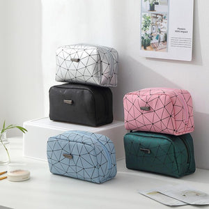 2pcs Travel Cosmetic Geometric Makeup Bag - COOLCrown Store