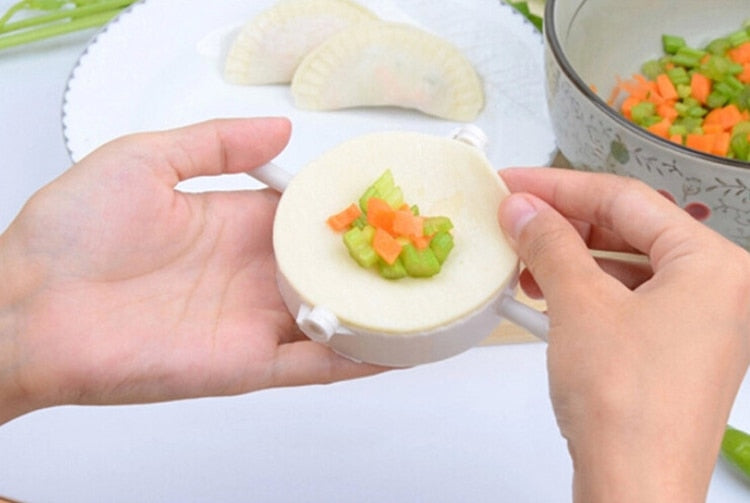 Dumpling Molds Plastic Dough Press Pie Ravioli Cooking Pastry Chinese Food Jiaozi Maker - COOLCrown Store