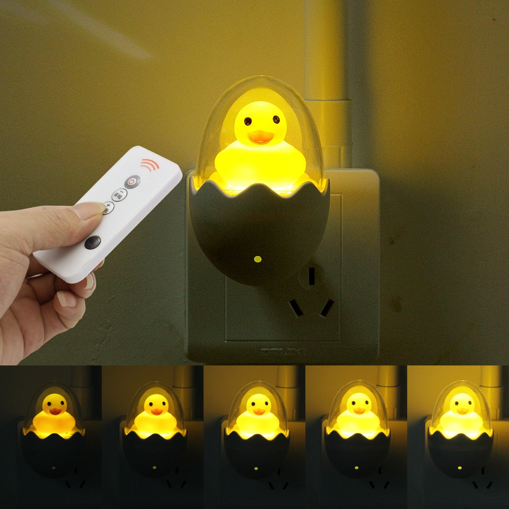 3pcs Yellow Duck Dimmable LED Night Light With Remote - COOLCrown Store