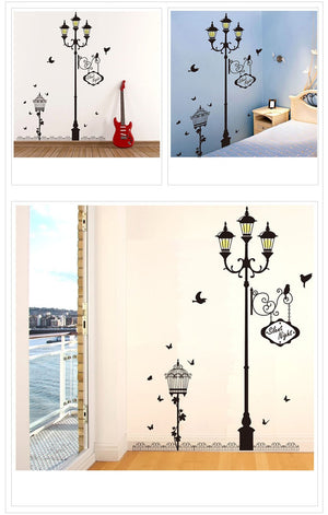 2pcs Ancient lamp bird Wall Stickers Home decor Wallpaper - COOLCrown Store