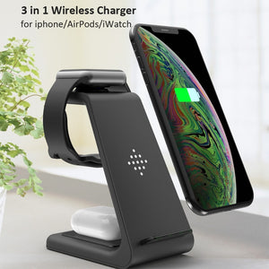 3 in 1 Wireless Charger For Apple Airpod Iphone Watch - COOLCrown Store