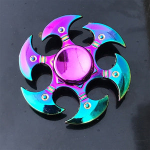 Rainbow Metal Finger Spinner Toy - COOLCrown Store