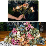 Autumn Fake Tea Rose Silk Flower - COOLCrown Store