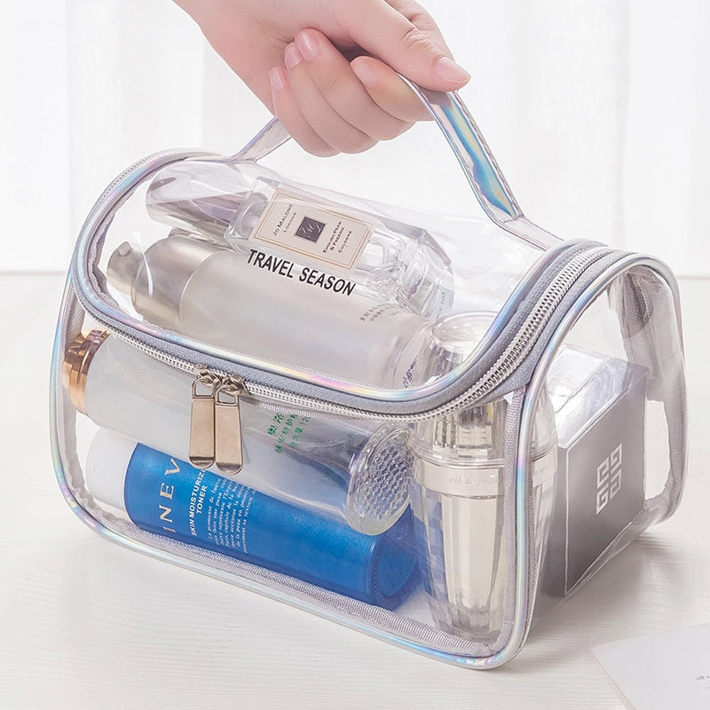 Transparent Travel Organizer Clear Cosmetic Makeup Bag - COOLCrown Store