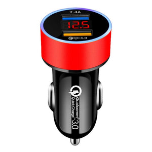Dual USB Car Charger for iPhone Quick Charge 3.0 Fast Charging - COOLCrown Store