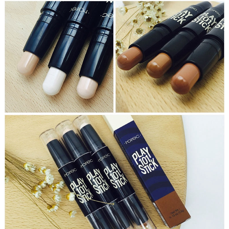 Concealer Cream Brighten Contour Bronzer Highlighter Stick Double end Pen Foundation - COOLCrown Store
