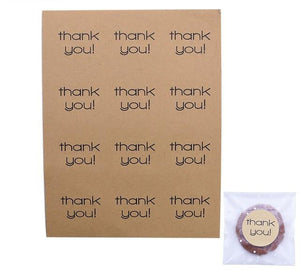 Kraft Paper Bags and Stickers For Candy or Gift - COOLCrown Store