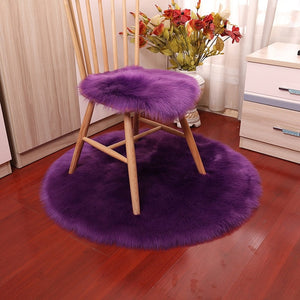 Luxury Soft Small Artificial Sheepskin Rug Home Decor - COOLCrown Store
