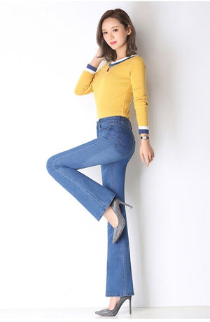 New Women's High Quality Fashion Casual Jeans Slim Jeans - COOLCrown Store