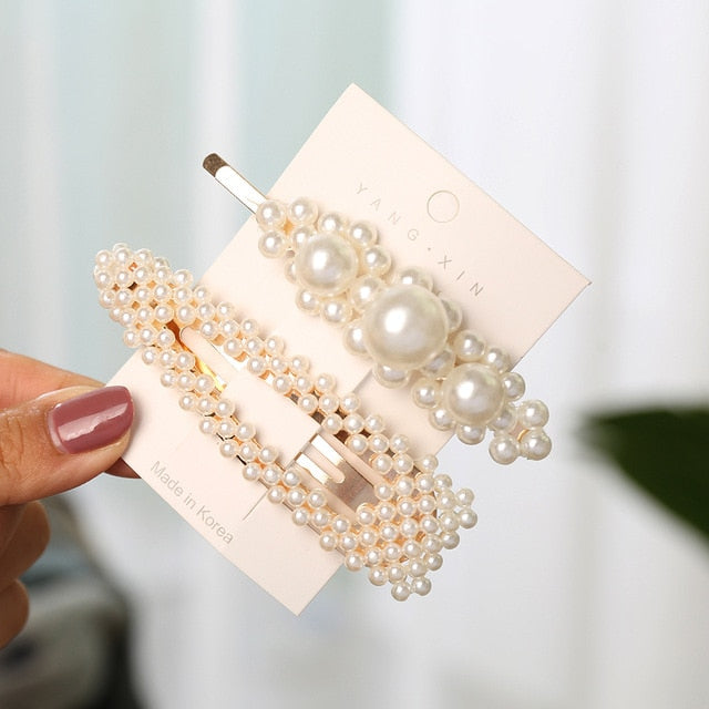 2Pcs Pearl Imitation Beads Hair Clip - COOLCrown Store