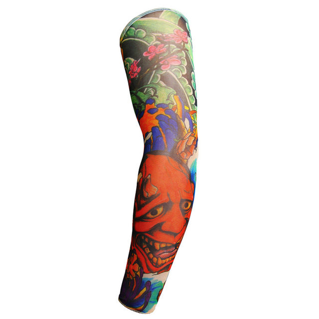 1Pcs Outdoor 3D Tattoo Printed Arm Warmer Fake Temporary Tattoo Sleeve - COOLCrown Store