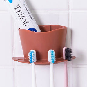 Plastic Toothbrush Toothpaste Holder Storage Rack - COOLCrown Store