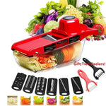 Vegetable Cutter Mandoline Slicer Potato Peeler Carrot Cheese Grater With Free 2 Peelers - COOLCrown Store