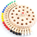 Wooden Memory Match Stick Chess Educational Color Cognitive Ability Toy Game for Children - COOLCrown Store