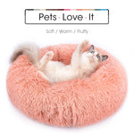 Round Calming Pet Dog & Cat Bed With Zipper - COOLCrown Store