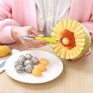 4pcs 2 in1 Stainless Steel Double-end Melon Ice Cream Baller Scoop - COOLCrown Store