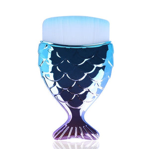 1 pcs Cosmetic Fish Tools Kit Powder Face Make Up Brushes Mermaid Holder Shape - COOLCrown Store