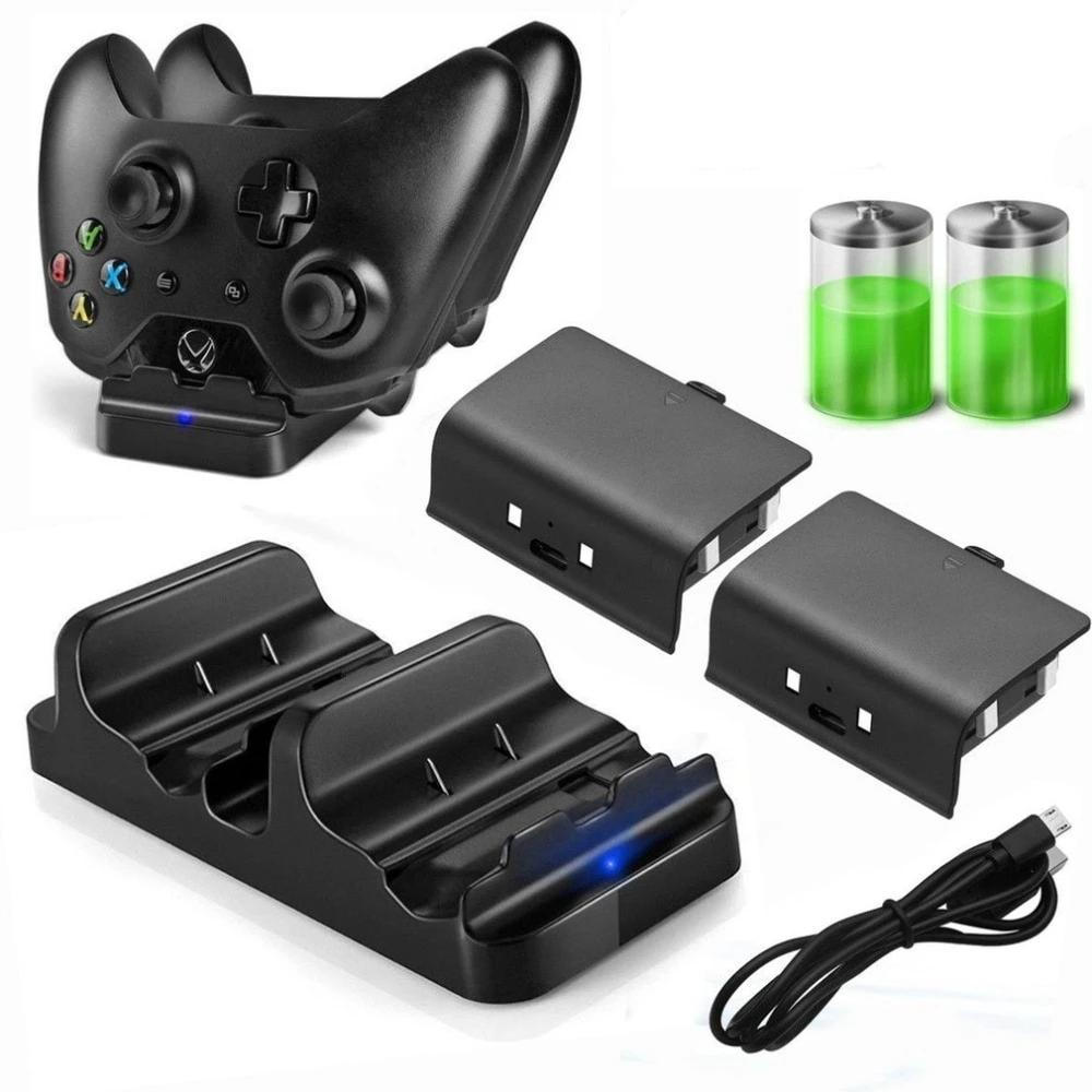 XBOX ONE Controller Dual Charging Dock Charger with 2pcs Rechargeable Battery - COOLCrown Store