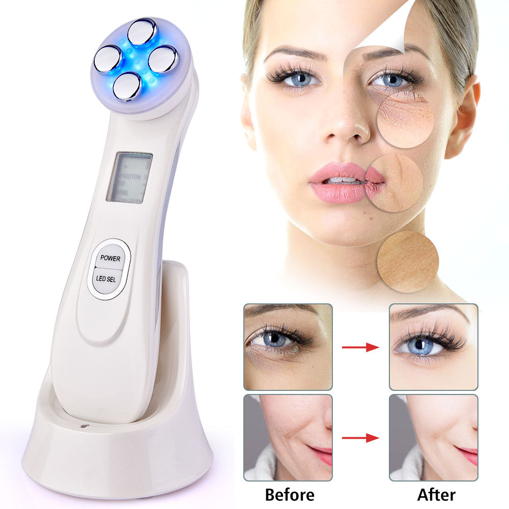 5 in 1 Electroporation LED Photon Facial RF Radio Frequency Skin Rejuvenation Therapy Device - COOLCrown Store