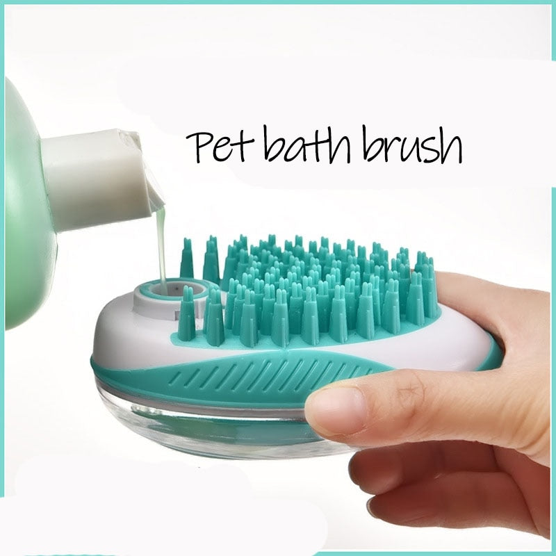 2 in 1 Shampoo Massage Brush For Dogs Cats - COOLCrown Store