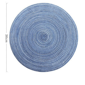6pcs Coaster Table Mat Ramie Insulation Pad Solid Round Design - COOLCrown Store