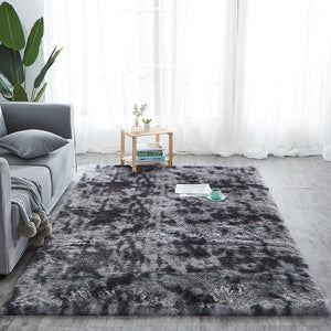 Shaggy Plush Fluffy Absorption Tie-dye Floor Carpet - COOLCrown Store