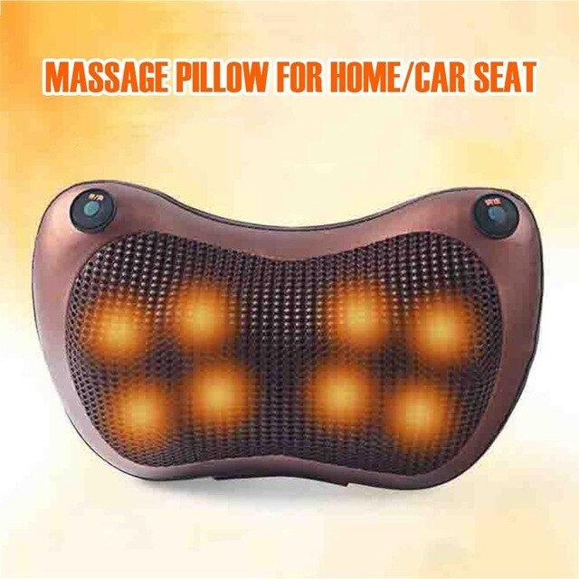Cervical Shiatsu Massage Kneading Heating Pillow Relaxation Electric Neck Massager - COOLCrown Store