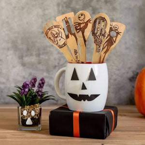 5Pcs Non-stick Spatula Shovel Wooden Halloween Cooking Utensils - COOLCrown Store