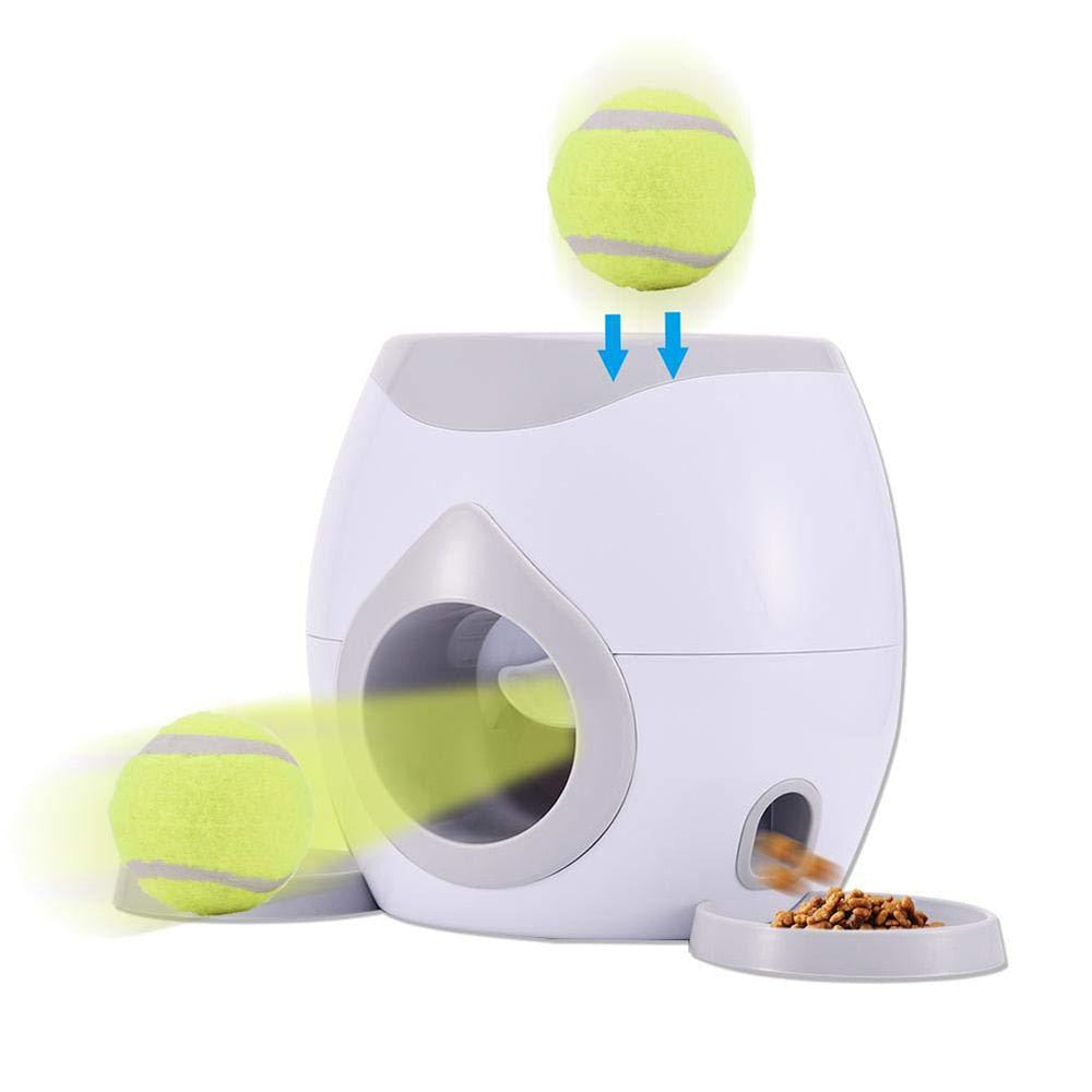 Automatic Pet Dog Tennis Ball Toys Fetch Machine Food Dispenser Reward Game - COOLCrown Store