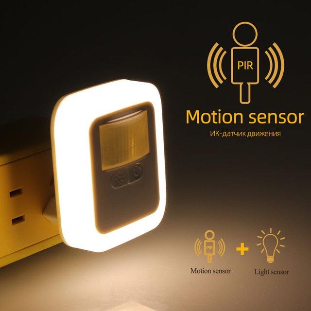 2pcs Night Light Motion Sound and Light Sensor Bedroom Decor - COOLCrown Store