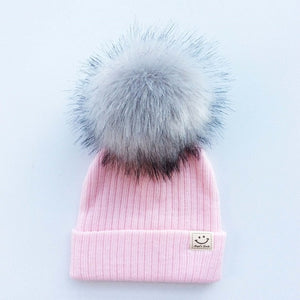 Winter Baby Boy Girl Artificial Pompom Knitted Hat - COOLCrown Store