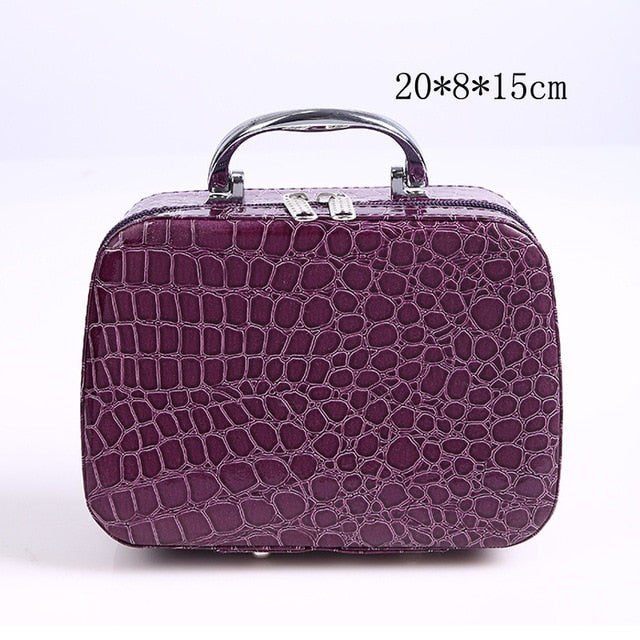 Elegant Leather Cosmetic Travel Handbag - COOLCrown Store
