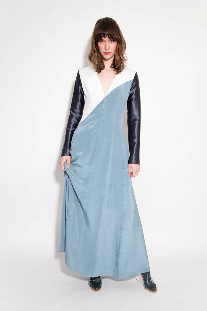 Long Silk Spacecrew Dress