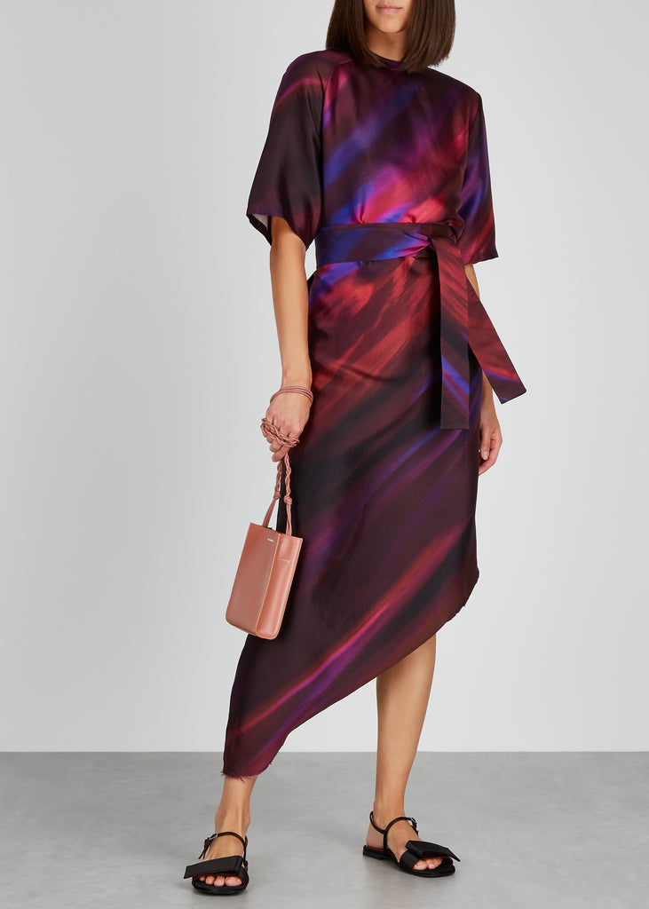 AWAYTOMARS X Woolmark printed silk-blend midi dress