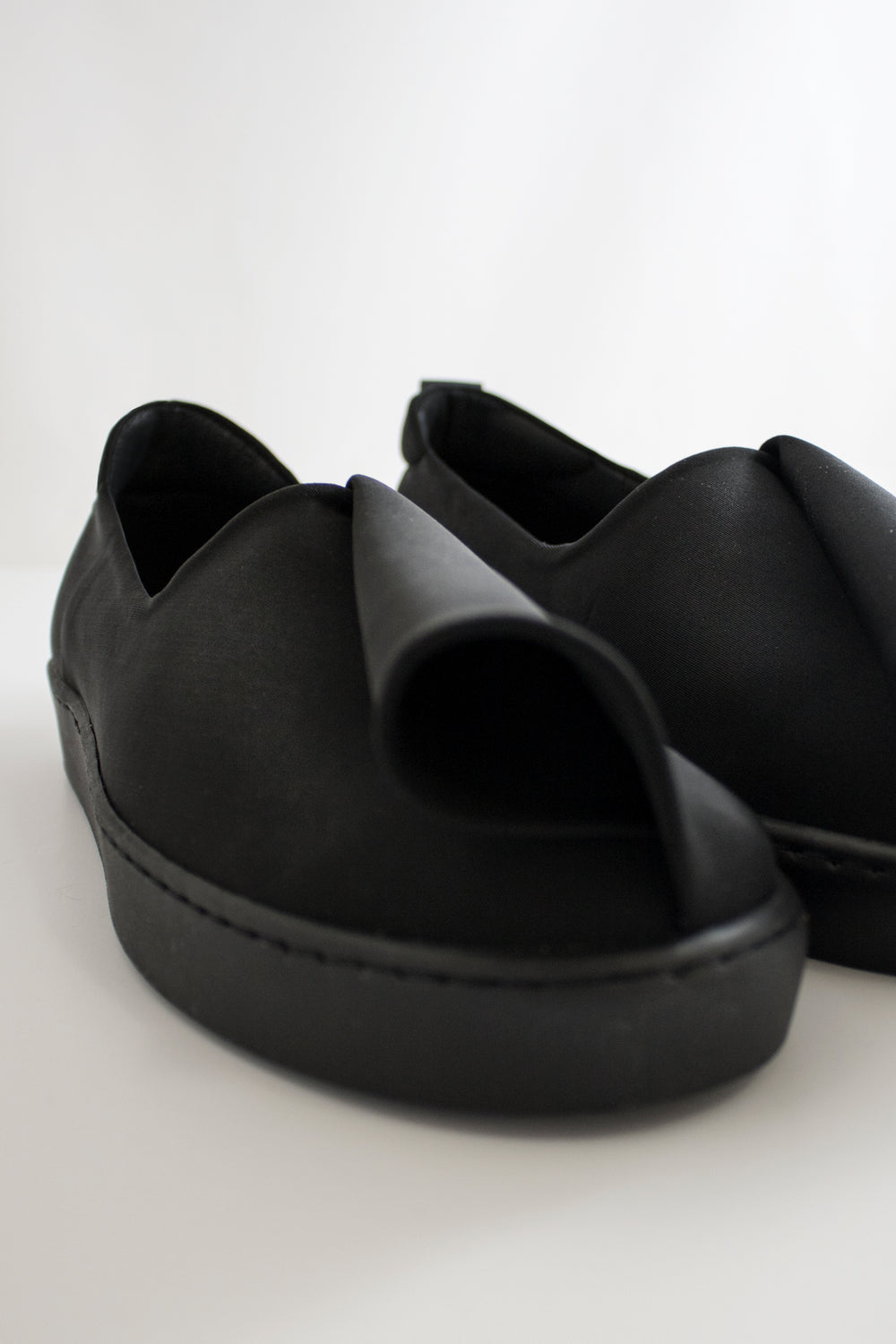 Neoprene Slash Slip-Ons (Men) - Black