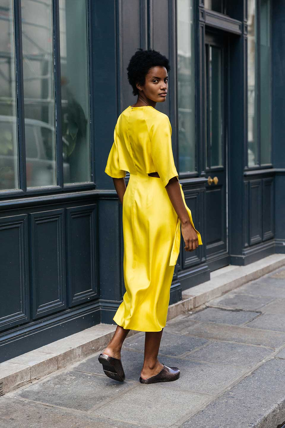 Yellow Knot Dress